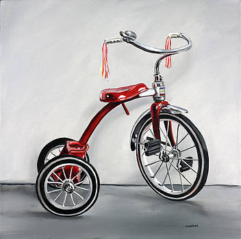 Red Tricycle 1 by Gail Chandler