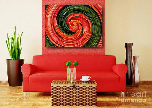 Red Tulip - Art Ideas for Interior Design by Hanza Turgul