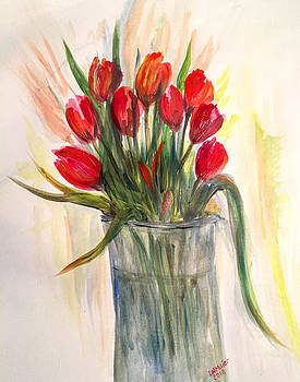 Red Tulips by Dorothy Maier