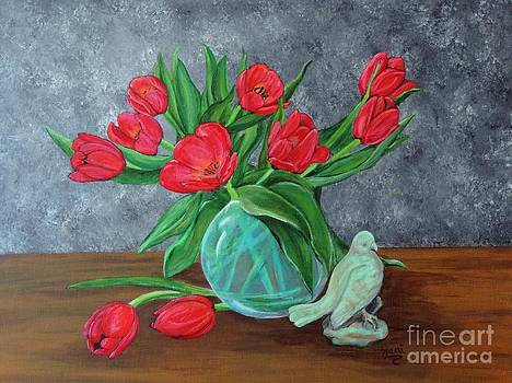 Red Tulips by Jacki McGovern