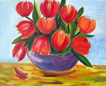 Red Tulips by Lia  Marsman