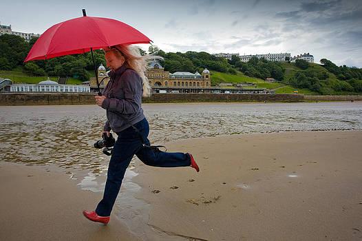 Red umbrella by Paul Indigo