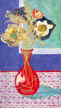 Diane Fine - Red Vase I