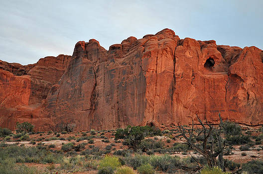 Red Wall in Arches National Park by Bruce Gourley