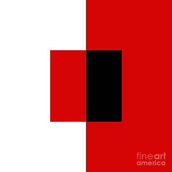 Andee Design - RED WHITE AND BLACK 12 SQUARE