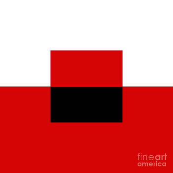 Andee Design - RED WHITE AND BLACK 13 SQUARE