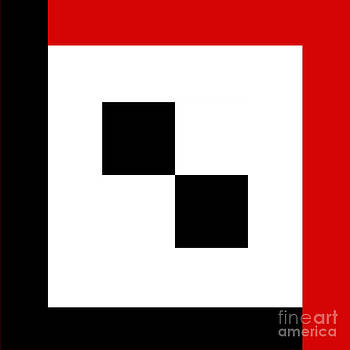 Andee Design - RED WHITE AND BLACK 15 SQUARE