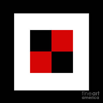 Andee Design - RED WHITE AND BLACK 17 SQUARE