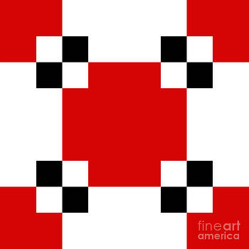 Andee Design - RED WHITE AND BLACK 20 SQUARE