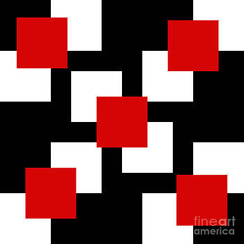 Andee Design - RED WHITE AND BLACK 22 SQUARE