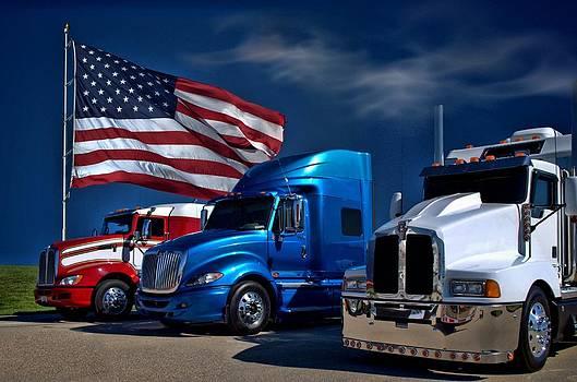 Tim McCullough - Red White and Blue Semi Trucks