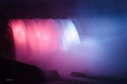 Red White Blue Horseshoe Falls by Crystal Wightman