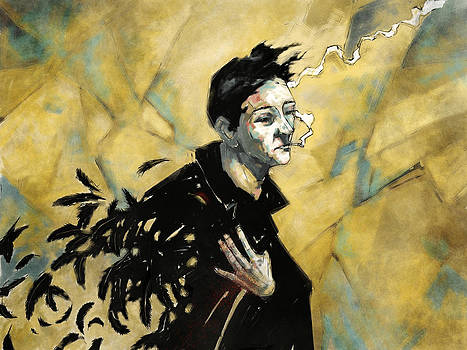 Red Winged Blackbird Man by David Leiberg