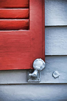David Letts - Red Wood Window Shutter IV