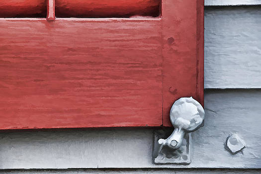 David Letts - Red Wood Window Shutter VI