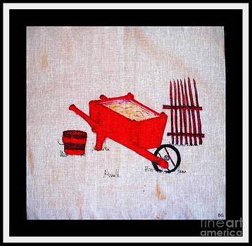 Barbara Griffin - Red Wooden Wheelbarrow