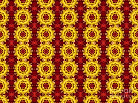 Red Yellow Pattern by Annette Allman