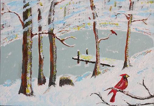 Redbird Winter by Harold Greer
