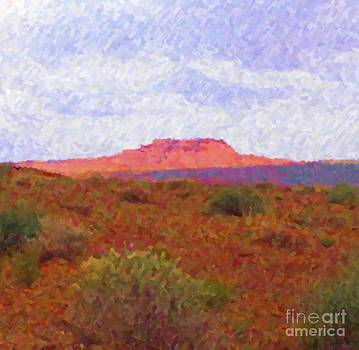 Reddish Butte Valley of the Gods by Annie Gibbons