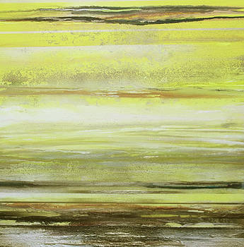 Redesdale Rhythms and textures Series Yellow and Sepia by Mike   Bell