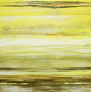 Redesdale Rhythms and  textures Yellow and Sepia by Mike   Bell