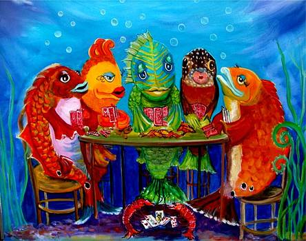 Redfish Poker II by Linda Kegley