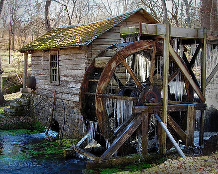 Reed Spring Mill in Winter by Ed Cooper