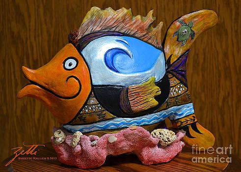 Reef Surfer by Suzette Kallen