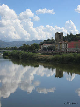 Refections Over San Niccolo' Firenze by Kelly Borsheim
