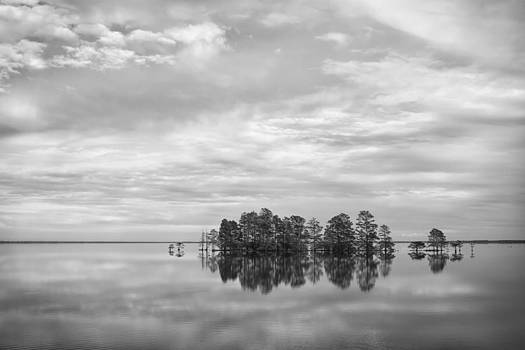 Reflected Sky in Black and White by Bob Decker