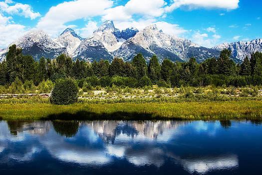 Reflected Teton Horizon by Kirk Strickland