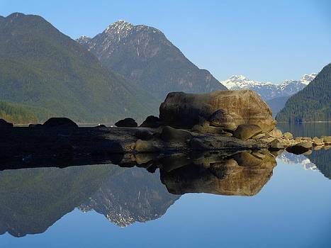 Reflections on Alouette Lake - Golden Ears Prov. Park, British Columbia, Canada by Ian Mcadie