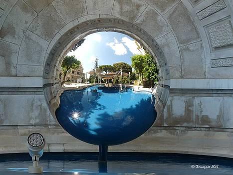 Reflection in Monoco by Hemu Aggarwal