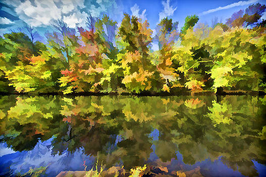 David Letts - Reflection of Autumn Colors on the Canal III