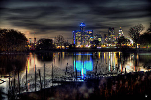 Reflection Of The Heart Of Detroit MI by A And N Art