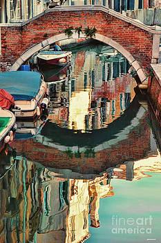 Reflection-Venice Italy by Tom Prendergast