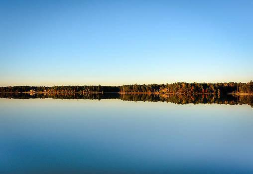 Reflection...Lake at sun down II by Shey Stitt