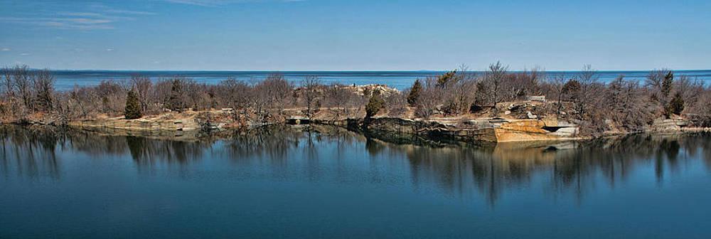 Reflections at the Quarry by Nancy De Flon