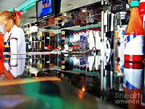 Reflections Of A Diner 3 by Chuck  Hicks
