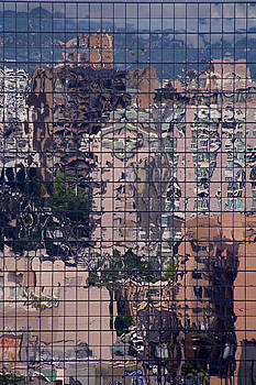 Reflections of Robson Street Vancouver by Susan Leake