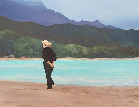 Reflections on Hanalei Bay by Dorothy Merritt