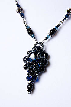 Regal Sapphire Pendant Necklace and Matching Earrings Set by WDM Gallery
