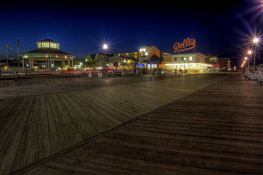 Rehoboth Beach Boardwalk at Night by David Dufresne