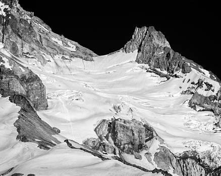 Reid Glacier and Illumination Rock by Jon Ares