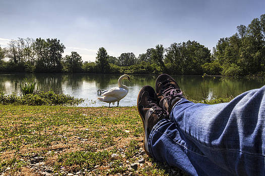 Relax at river by Pier Giorgio Mariani