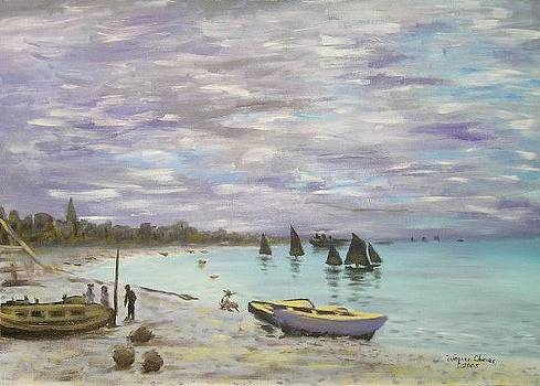 Remade - Monet - Beach by Wagner Chaves