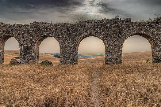 remains of Roman aqueduct 300 a.C. by Leonardo Marangi
