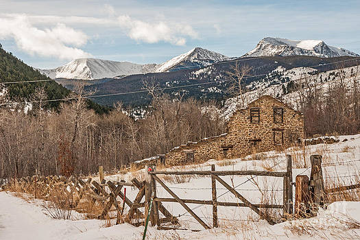 Remains of Twenty-Stamp Gold Mill by Sue Smith
