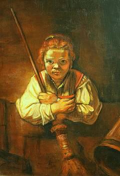 Rembrandt copy Young Girl with Broom by Melinda Saminski