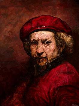 Rembrandt with an iPad by Edward Ofosu